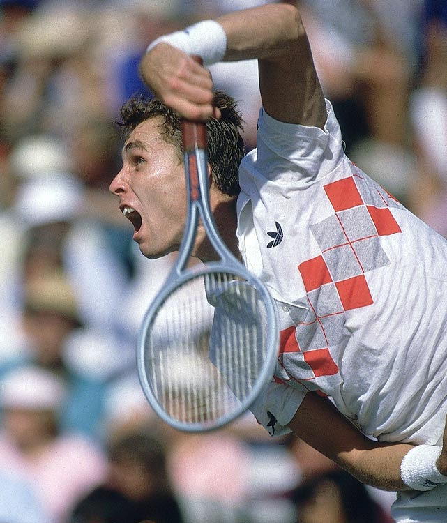Lendl wore distinctive Adidas shirts and played with the Adidas GTX Pro racket, which followed his use of the Kneissl White Star Pro.