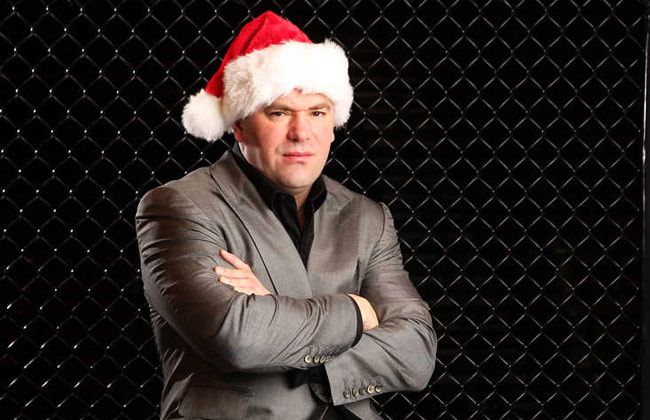 Dana White says the difference between the UFC and Viacom-owned Bellator is that he works every day -- including Christmas -- while Viacom does not.