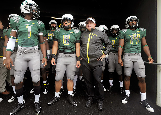 The NCAA punished former Oregon coach Chip Kelly, but not the players who didn't do anything wrong.