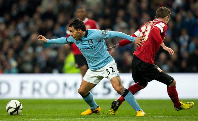 Carlos Tevez scored 17 goals for Manchester City last season.