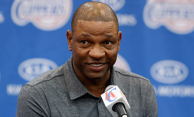 Doc Rivers officially joined the Clippers Wednesday after nine seasons coaching the Boston Celtics.