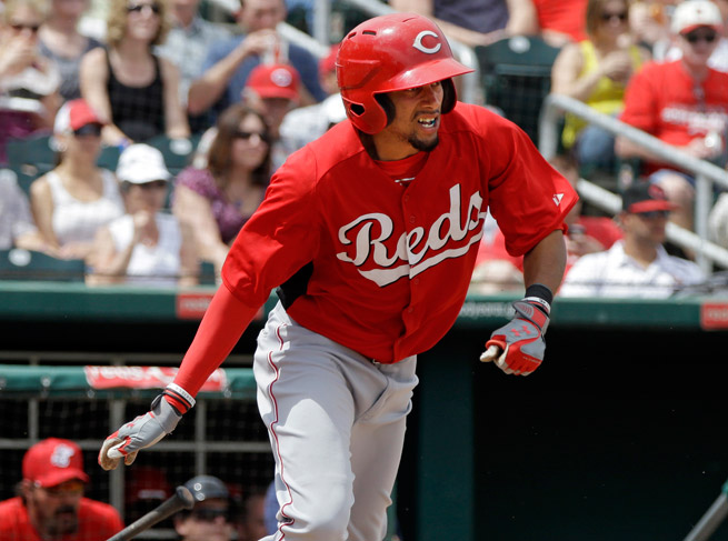 Billy Hamilton set a professional record with 155 stolen bases in the minor leagues last season.