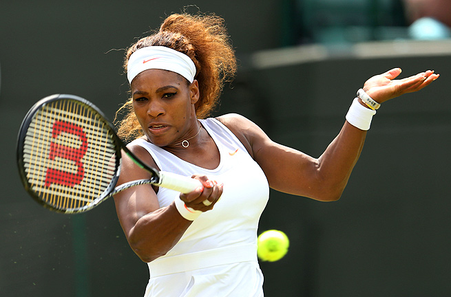 Serena Williams cleanly won her second-round match, beating Caroline Garcia 6-3, 6-2.