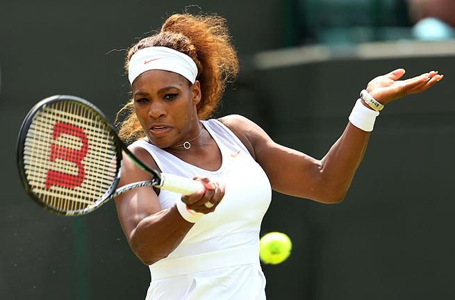 Serena Williams cleanly won her second-round match, beating Caroline Garcia 6-3, 6-2.