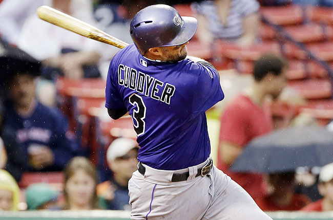 In addition to the hit streak, Cuddyer has reached base in 43 straight games, also a team record.