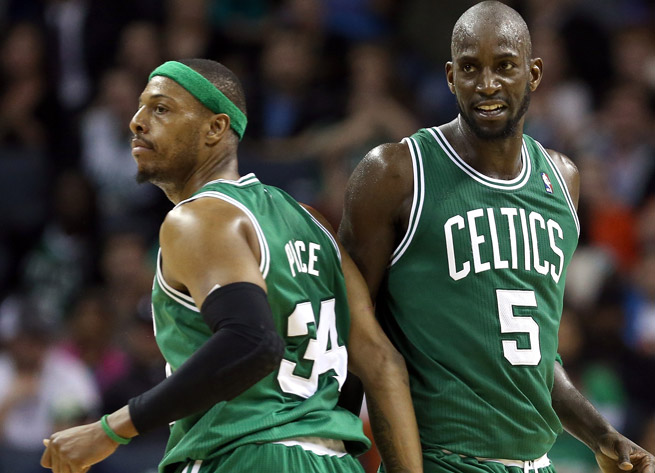 The duo of Kevin Garnett and Paul Pierce, which brought a title to Boston, is headed to Brooklyn.