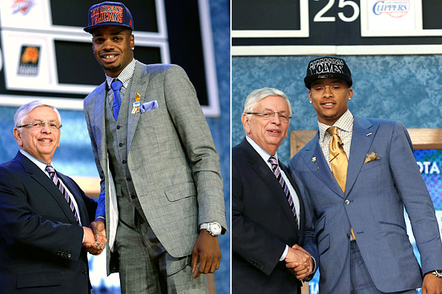 11 players selected in the first round of the 2013 NBA draft were traded shortly thereafter, including Nerlens Noel (drafted 6th by New Orleans, then traded to Philadelphia) and Trey Burke (drafted 9th by Minnesota, then traded to Utah). Only time will tell how these moves will pan out. Here are some notable NBA Draft trades over the last three decades.