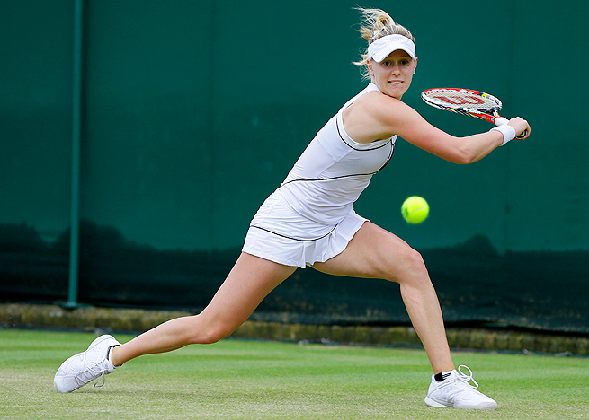 126th-ranked Alison Riske came back from a set down to beat 44th-ranked Urszula Radwanska.