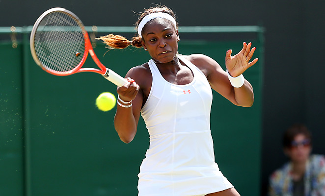 Sloane Stephens closed out her third-round match with a win and a place in the fourth round.