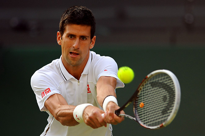 Novak Djokovic beat Jeremy Chardy and will now face Tommy Haas in the fourth round.