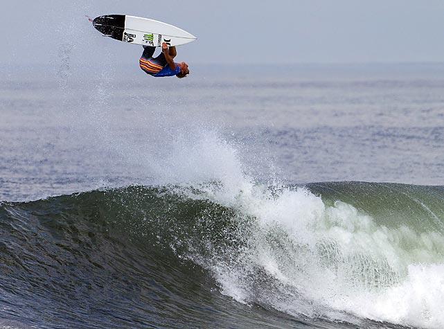 John John Florence of Hawaii surfs in Denpasar, Bali, Indonesia.