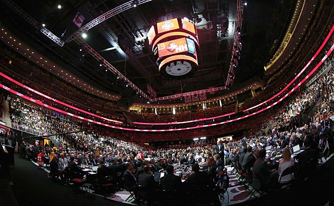 The Prudential Center in Newark, NJ hosted the first one-day NHL Draft since 2006.0