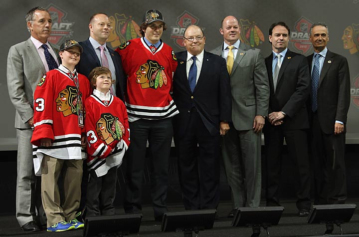 Ryan Hartman, the Blackhawks' first pick, impressed scouts with his talent and heart-and-soul character.