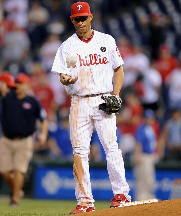 Valdez shifted over from second base and wound up as the winning pitcher after throwing a hitless 19th inning in his first professional pitching appearance in the Phillies 5-4 win over the Reds. The journeyman infielder became the the first player to start a game in the field and then win the game as a pitcher since Babe Ruth did it in 1921.