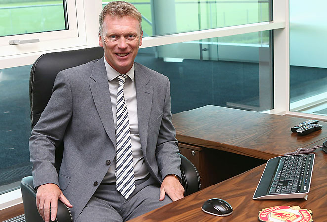David Moyes was appointed as Sir Alex Ferguson's successor at Manchester United in May.