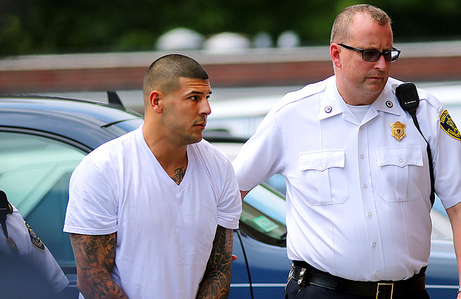 Aaron Hernandez (left) is already facing charges of first-degree murder in the death of Odin Lloyd.