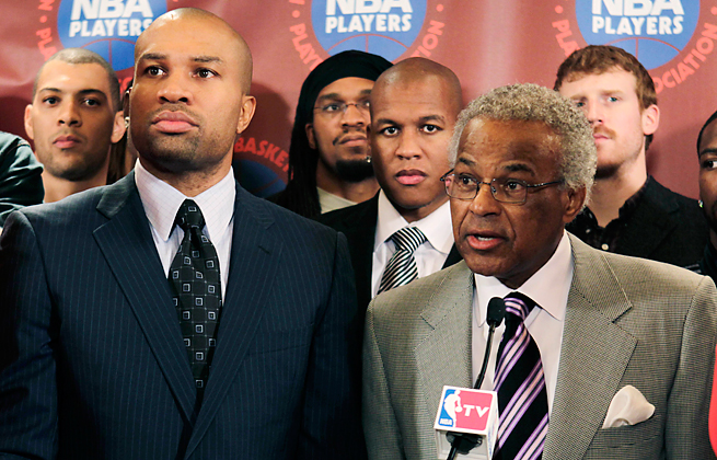 Once partners during the NBA lockout, Derek Fisher and Billy Hunter now are dueling in the courts.