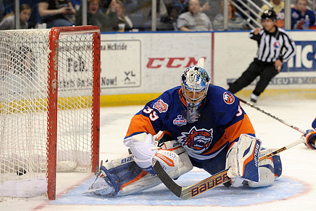 Rick DiPietro's struggles continued after he was sent down to the AHL Bridgeport Sound Tigers.