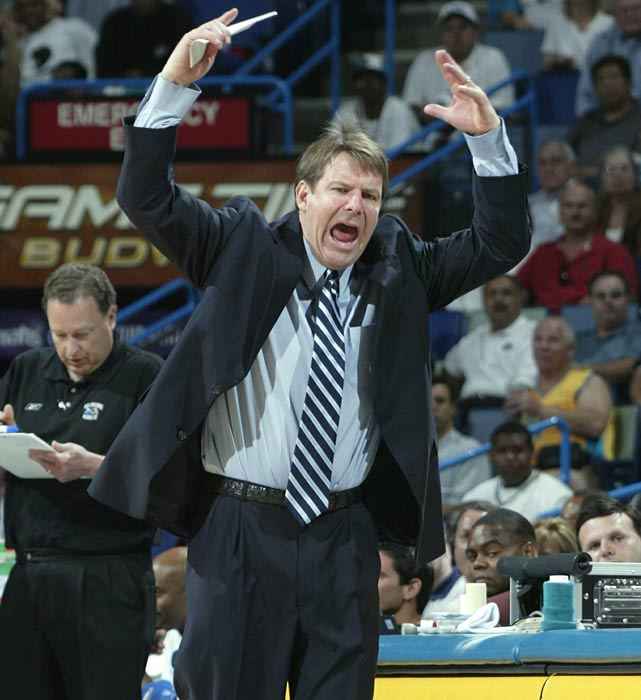 Tim Floyd gained national attention at Iowa State by coaching such future NBA products as Fred Hoiberg, Marcus Fizer and Kelvin Cato, but coaching in the NBA was a different story. Floyd went 49-190 in three-plus years with the Bulls before being let go in 2002. He returned to the NBA in 2003 to coach the Hornets, leading them to a 41-41 record and the NBA playoffs, but was fired after losing the first round in seven games.