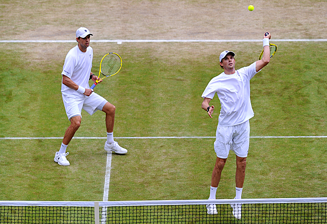If Bob and Mike Bryan win Wimbledon, they'll be the first team to hold all four major titles at the same time.