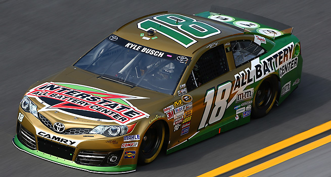 Kyle Busch is one driver who failed an inspection because of illegal roof flap spacers.