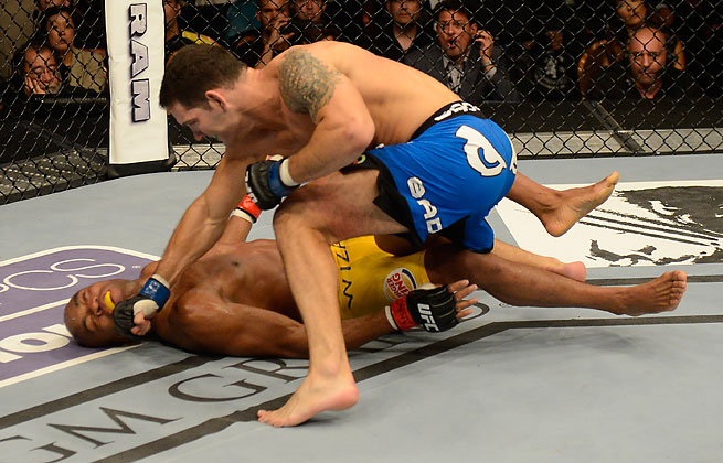 Anderson Silva suffered his first loss as middleweight champ in 11 bouts to Chris Weidman at UFC 162.