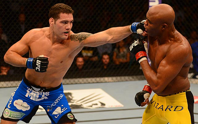The win put an end to Silva's nearly seven-year reign atop the division and his 17-fight win streak.