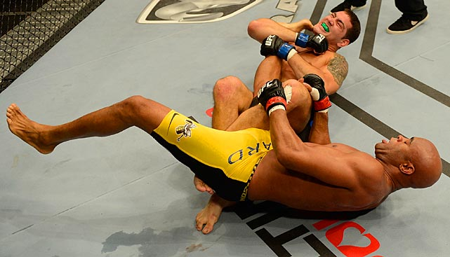 Weidman took down Silva early in the first round, but Silva had a moment of his own on the mat later in the bout.