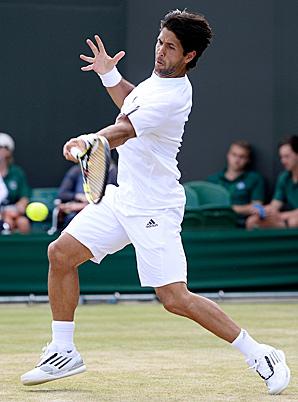 Fernando Verdasco relied on his big forehand to make the quarterfinals.