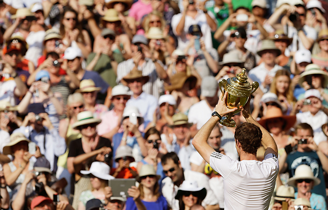 In beating Novak Djokovic Sunday, Andy Murray became the first Brit in 77 years to win Wimbledon.