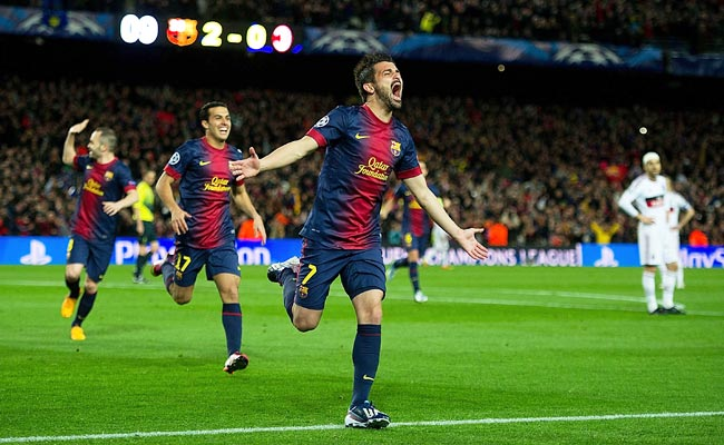 Striker David Villa was likely to see his playing time diminish at Barcelona after the signing of Neymar.
