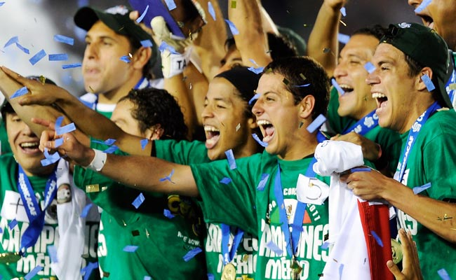 Mexico celebrates after defeating the U.S. in the 2011 Gold Cup final.