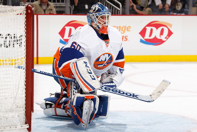 Kevin Poulin has gone 7-9-1 with a 2.76 goals-against average in 21 career games with the Isles.
