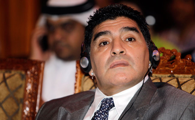 Argentine soccer icon Diego Maradona represents the Dubai Sports Council.