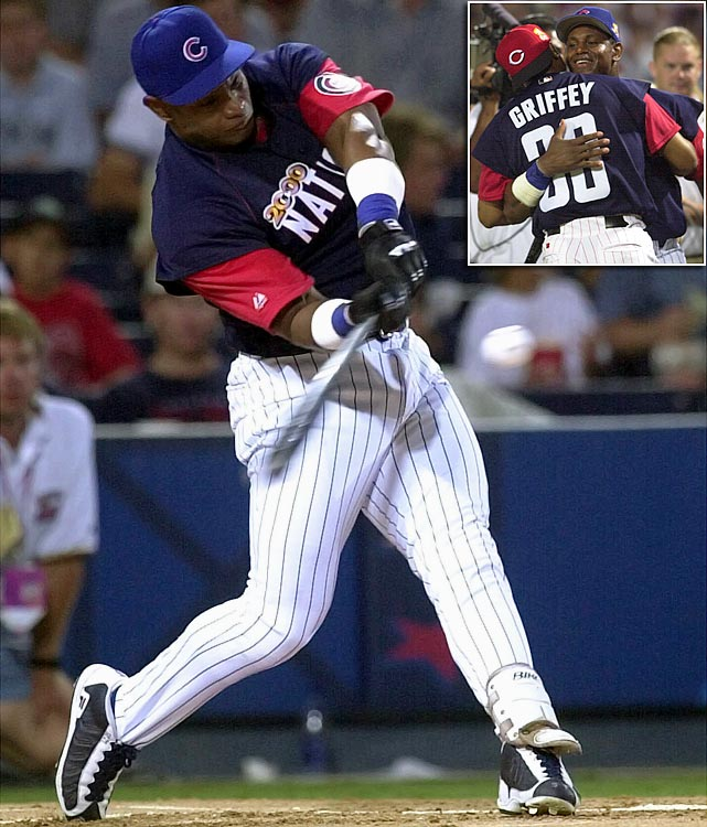 Sammy Sosa electrified the Turner Field crowd by crushing the field with a then-record 26 homers. The next-highest total belonged to Boston's Carl Everett with 12, though it was Ken Griffey Jr. who made it to the final round opposite Sosa.