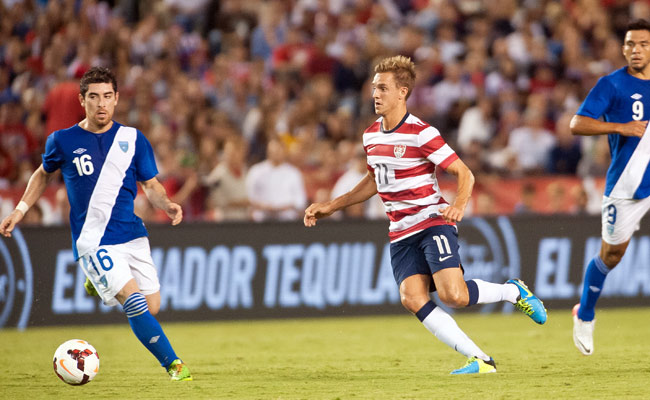 Stuart Holden played his first significant minutes for the U.S. in more than two years on Friday.