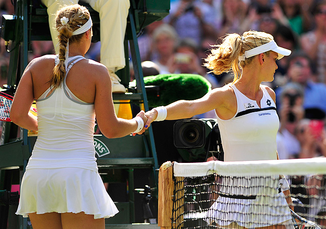 Agnieszka Radwanska gave a cold handshake after Sabine Lisicki defeated her in the Wimbledon semifinals.