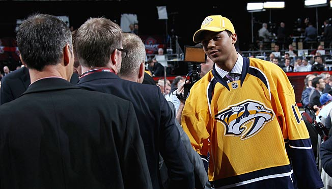 The Predators were giddy when top-ranked prospect Seth Jones fell to them with the fourth pick.