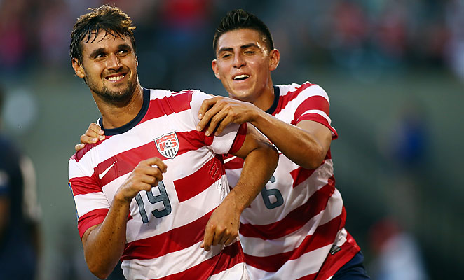 Chris Wondolowski scored a first half hat-trick in the U.S.'s 6-1 win over Belize on Tuesday.