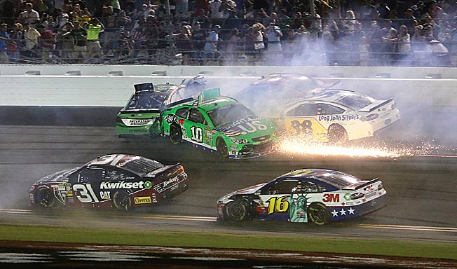 Sparks fly whenever Danica Patrick's name comes up, especially because of her struggles this season.