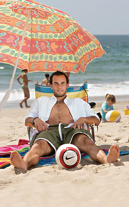 Donovan poses in Manhattan Beach, Calif., during a photo shoot with SI.
