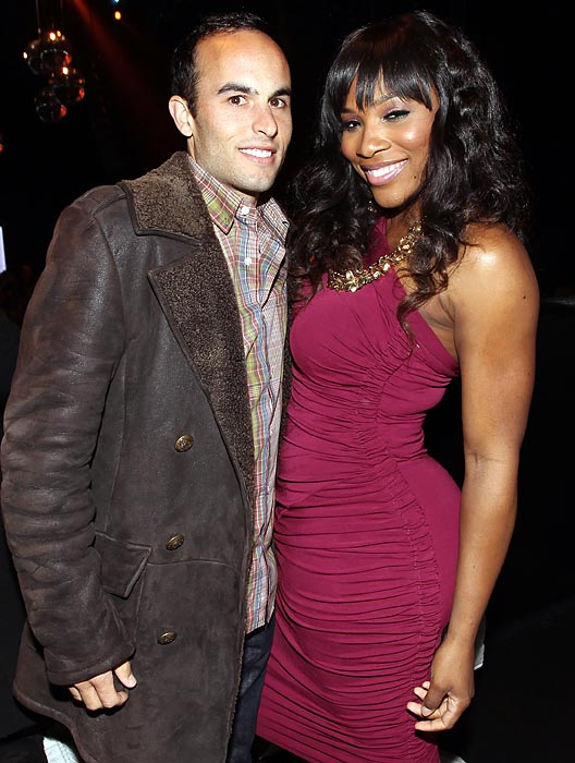 Donovan and Serena Williams attend a Super Bowl Weekend kickoff party in Dallas.