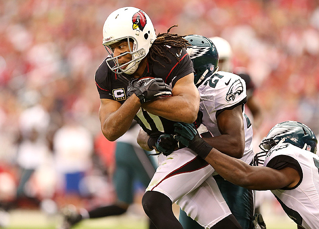 Larry Fitzgerald was a fantasy bust in 2012, but should benefit greatly from better quarterback play.