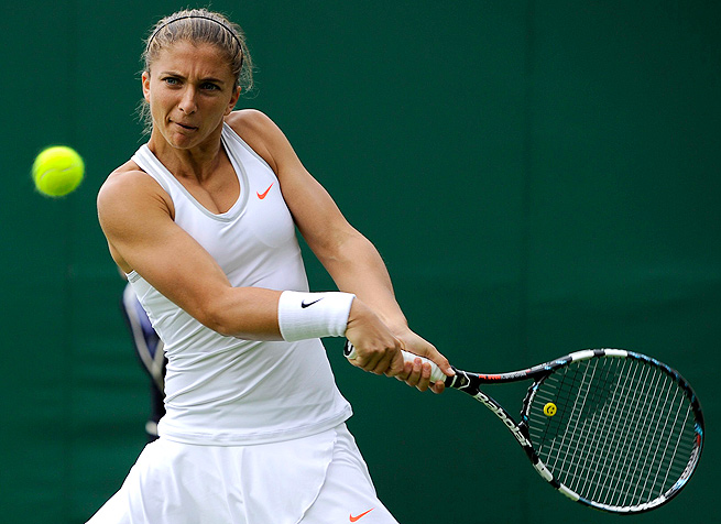 After losing in the first round at Wimbledon, Sara Errani is into the quarterfinals in Palermo.
