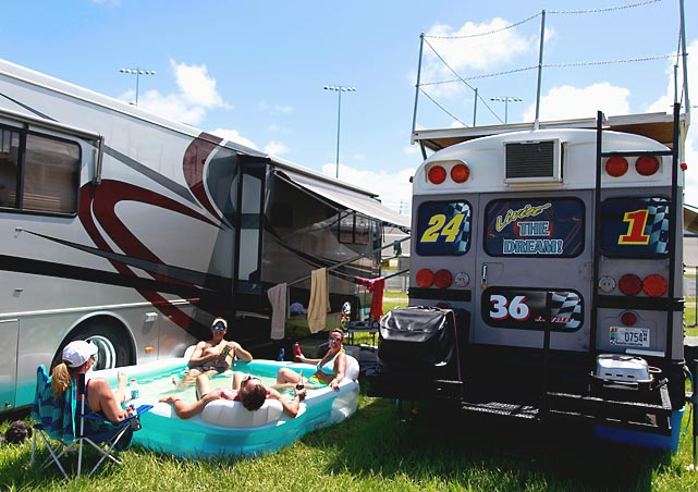 How to live the high life at Daytona during the summer Sprint Cup race.