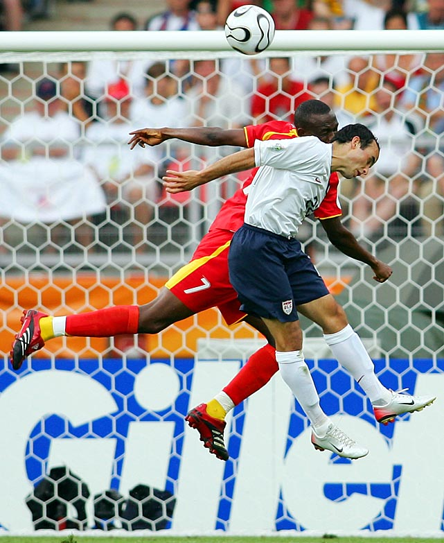 Ghana's Liliasu Shilla battles with Donovan during a Group E game. The U.S. lost 2-1 to Ghana, lost 3-0 to the Czech Republic and finished in a 1-1 draw with eventual champion Italy.