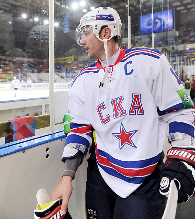 Next year proved to be delayed by three months due to a lockout, and Kovalchuk signed on with SKA St. Petersburg of the KHL, captaining the team, playing well (42 points in 36 games) and sewing the seeds of his decision to leave the Devils. As the lockout dragged on, he, like fellow Russian star Alex Ovechkin, dropped hints that they might not return to their NHL teams.