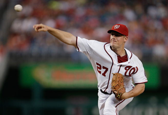 Jordan Zimmermann has anchored the Nationals' rotation with a 2.58 ERA and a 0.967 WHIP.