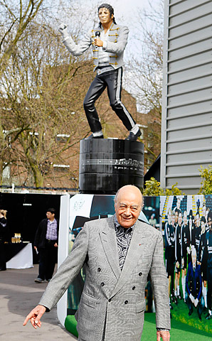 Former Fulham owner Mohammed Al-Fayed unveiled a statue of Michael Jackson outside Craven Cottage last year.