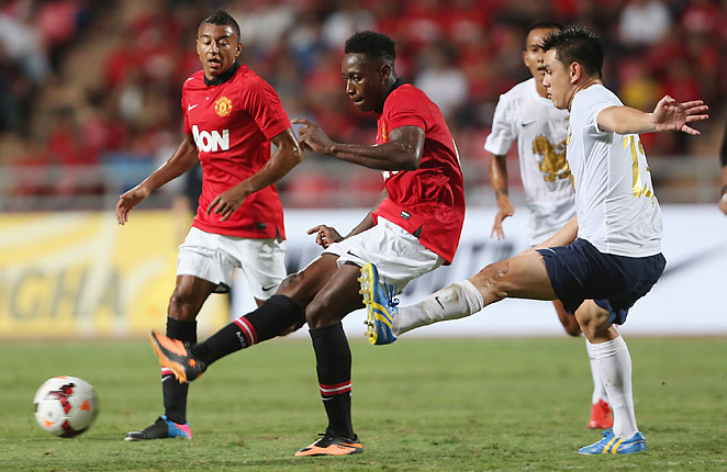 Danny Welbeck couldn't find a way to score in Manchester United's first preseason match.